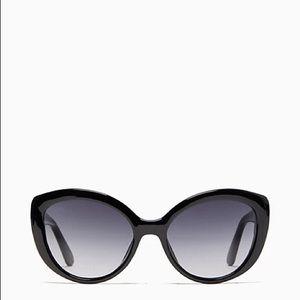 Kate Spade Sherrie Cat Eye Sunglasses Black
